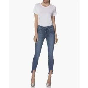 Paige Hoxton High Rise Ankle Skinny Fray Hem Jeans